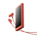 Mp3 плейър Sony NW-A45HN, 16GB, Hi-Res Audio, 7.8cm screen, NFC/Bluetooth, Noise Cancelling headphones, red  SN: NWA45HNR.CEW