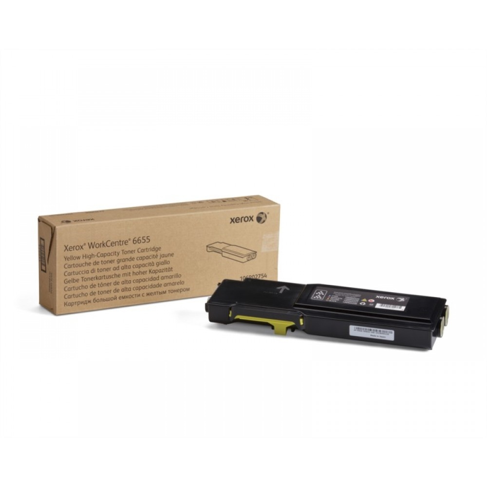 Консуматив Xerox WorkCentre 6655 High Capacity Yellow Toner Cartridge (7500 pages)  SN: 106R02754